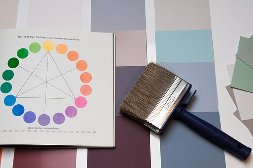 color-wheel and color swatches
