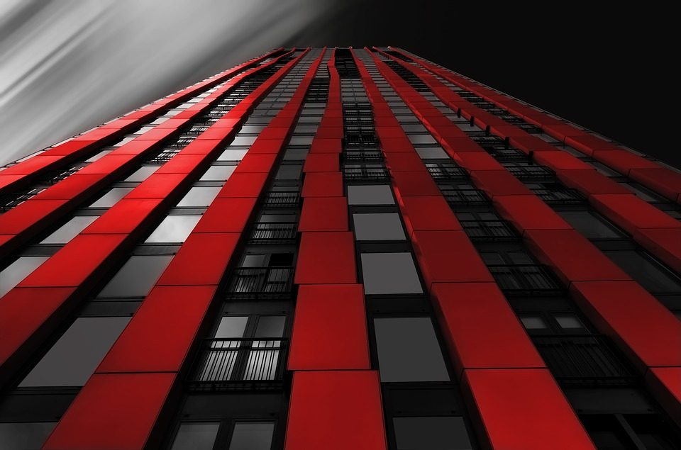 roterdam red highlight sky scraper