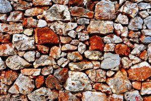 old stone wall masonry